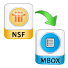 Export Emails from NSF file to MBOX
