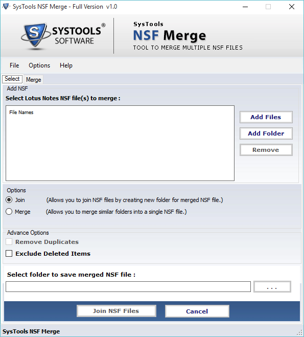 Introduction Merge NSF