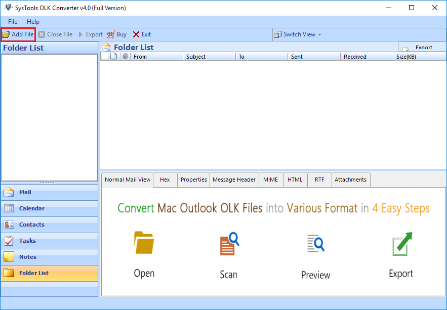 add olk file